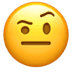 🤨 face with raised eyebrow Emoji on Apple Platform