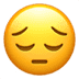 😔 Nachdenkliches Gesicht Emoji auf Apple-Plattform