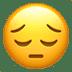 😔 Visage Pensif Emoji sur la plateforme Apple
