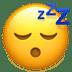 😴 잠자는 얼굴 애플 플랫폼 이모티콘