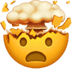 🤯 exploding head Emoji on Apple Platform