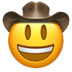 🤠 cowboy hat face Emoji on Apple Platform