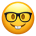 🤓 Nerd Face Emoji on Apple Platform
