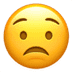 😟 worried face Emoji on Apple Platform