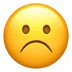 ☹️ frowning face Emoji on Apple Platform