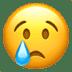 😢 泣き顔 Appleプラットフォーム上の絵文字