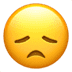 😞 disappointed face Emoji on Apple Platform