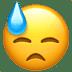 😓 downcast face with sweat Emoji on Apple Platform