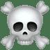 ☠️ skull and crossbones Emoji on Apple Platform