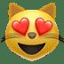 😻 smiling cat with heart-eyes Emoji on Apple Platform