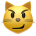 😼 cat with wry smile Emoji on Apple Platform