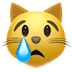 😿 Crying Cat Emoji on Apple Platform