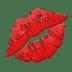 💋 Marque de Bisou Emoji sur la plateforme Apple
