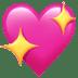 💖 sparkling heart Emoji on Apple Platform