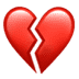 💔 broken heart Emoji on Apple Platform