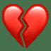 💔 Cuore Spezzato Emoji sulla Piattaforma Apple