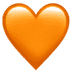🧡 orange heart Emoji on Apple Platform