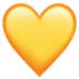 💛 Geel Hart Emoji op Apple Platform
