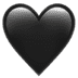 🖤 black heart Emoji on Apple Platform