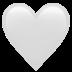 🤍 white heart Emoji on Apple Platform