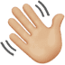 👋🏼 waving hand: medium-light skin tone Emoji on Apple Platform