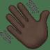 👋🏿 waving hand: dark skin tone Emoji on Apple Platform
