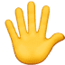🖐️ hand with fingers splayed Emoji on Apple Platform