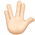🖖🏻 vulcan salute: light skin tone Emoji on Apple Platform
