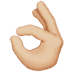 👌🏼 Medium-Light Skin Tone OK Hand Emoji on Apple Platform
