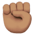 ✊🏽 raised fist: medium skin tone Emoji on Apple Platform