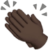 👏🏿 clapping hands: dark skin tone Emoji on Apple Platform