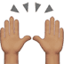 🙌🏽 raising hands: medium skin tone Emoji on Apple Platform