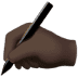 ✍🏿 writing hand: dark skin tone Emoji on Apple Platform
