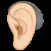 🦻🏻 ear with hearing aid: light skin tone Emoji on Apple Platform