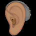🦻🏽 ear with hearing aid: medium skin tone Emoji on Apple Platform