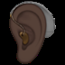 Ear With Hearing Aid: Dark Skin Tone