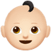 👶🏻 baby: light skin tone Emoji on Apple Platform