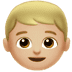 👦🏼 boy: medium-light skin tone Emoji on Apple Platform