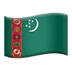 🇹🇲 flag: Turkmenistan Emoji on Apple Platform