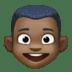 👦🏿 boy: dark skin tone Emoji on Facebook Platform