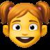 👧 girl Emoji on Facebook Platform
