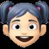👧🏻 girl: light skin tone Emoji on Facebook Platform