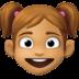 👧🏽 girl: medium skin tone Emoji on Facebook Platform