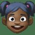 👧🏿 girl: dark skin tone Emoji on Facebook Platform