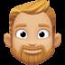 🧔🏼 man: medium-light skin tone, beard Emoji on Facebook Platform