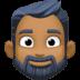 🧔🏾 Medium Dark Skin Tone Bearded Man Emoji on Facebook Platform