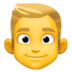 👱♂️ Blond Hair Man Emoji on Facebook Platform