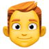 👨‍🦰 man: red hair Emoji on Facebook Platform