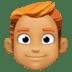 👨🏽🦰 man: medium skin tone, red hair Emoji on Facebook Platform