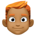 👨🏾🦰 man: medium-dark skin tone, red hair Emoji on Facebook Platform